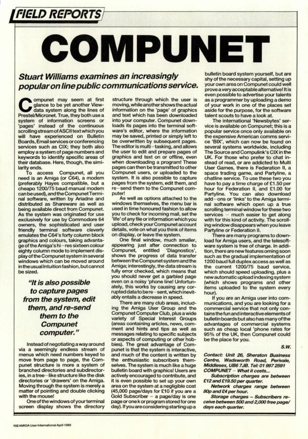 Amiga User International Volume 3, Number 4, April 1989 p102
