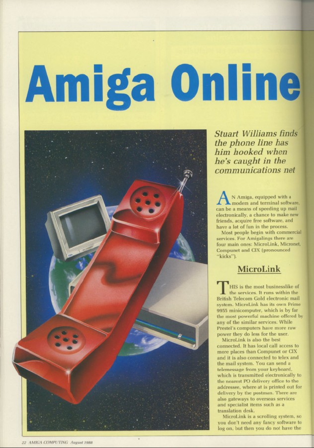 Amiga Computing Volume 1, Number 3, August 1988 p22