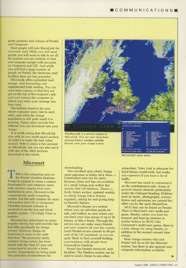 Amiga Computing Volume 1, Number 3, August 1988 p23