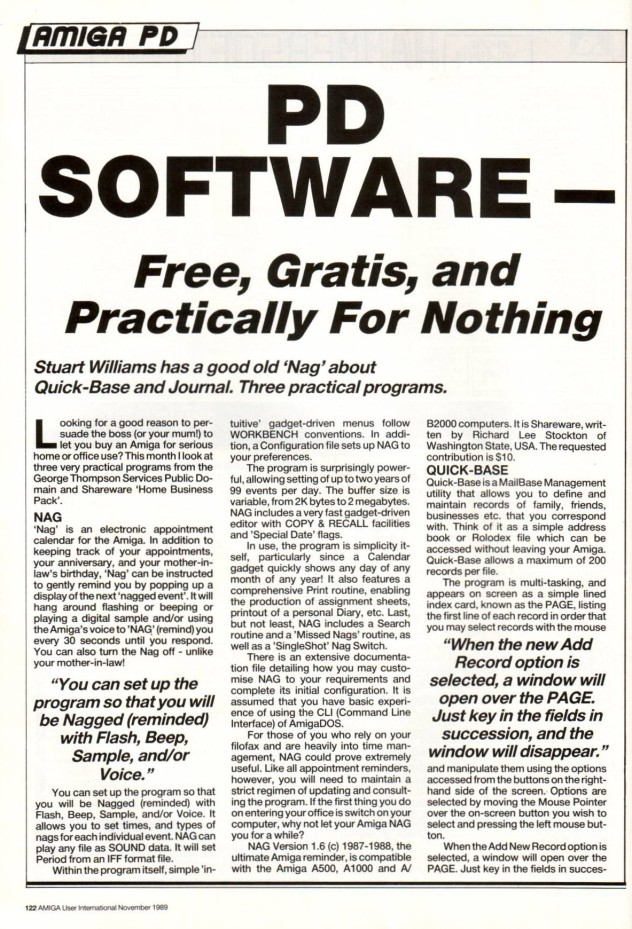 Amiga User International Vol 3, Number 11, 1989, p122