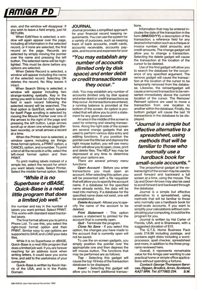 Amiga User International Vol 3, Number 11, 1989, p124