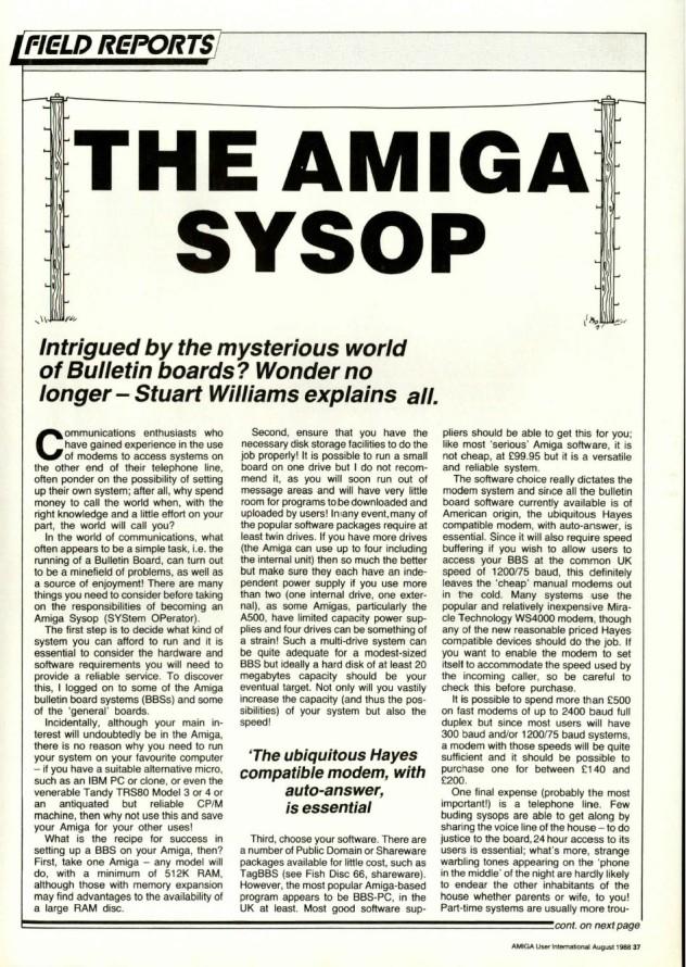 Amiga User International Volume 2, Number 8, August 1988 p37