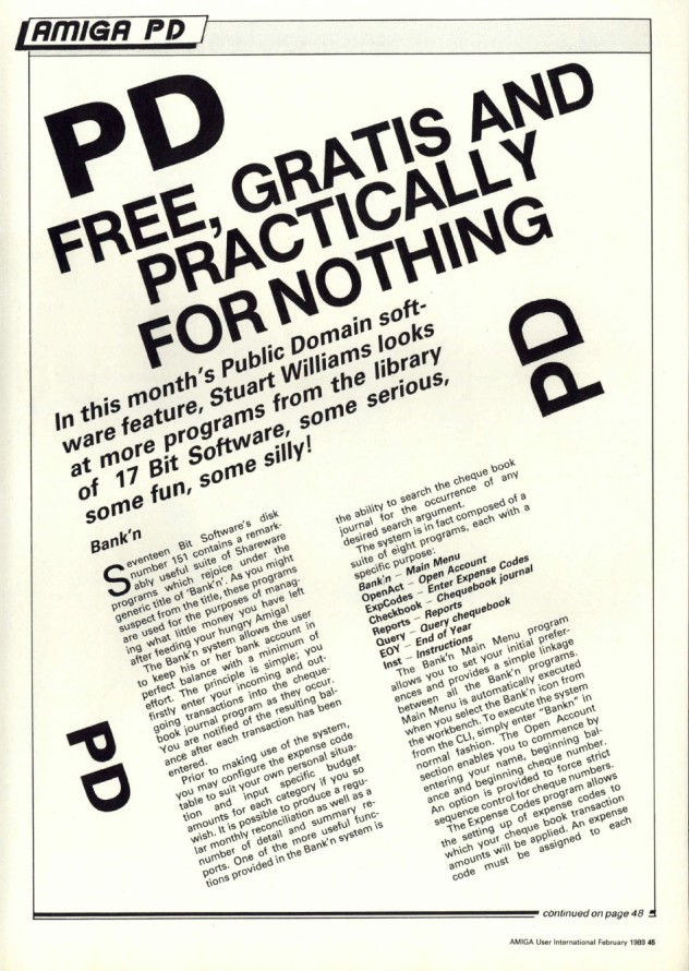 Amiga User International Volume 3, Number 2, February 1989 p45