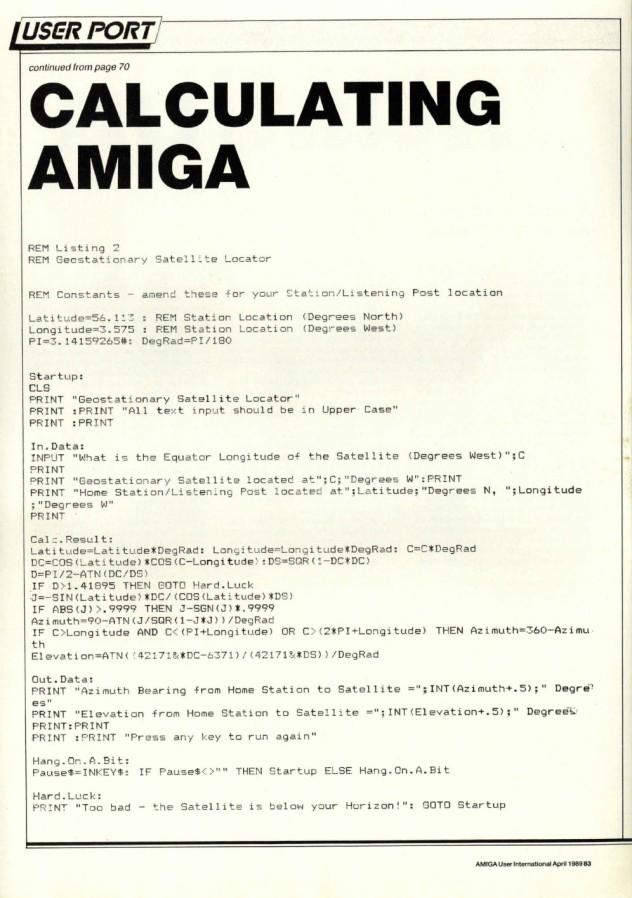 Amiga User International Volume 3, Issue 4, April 1989 p83