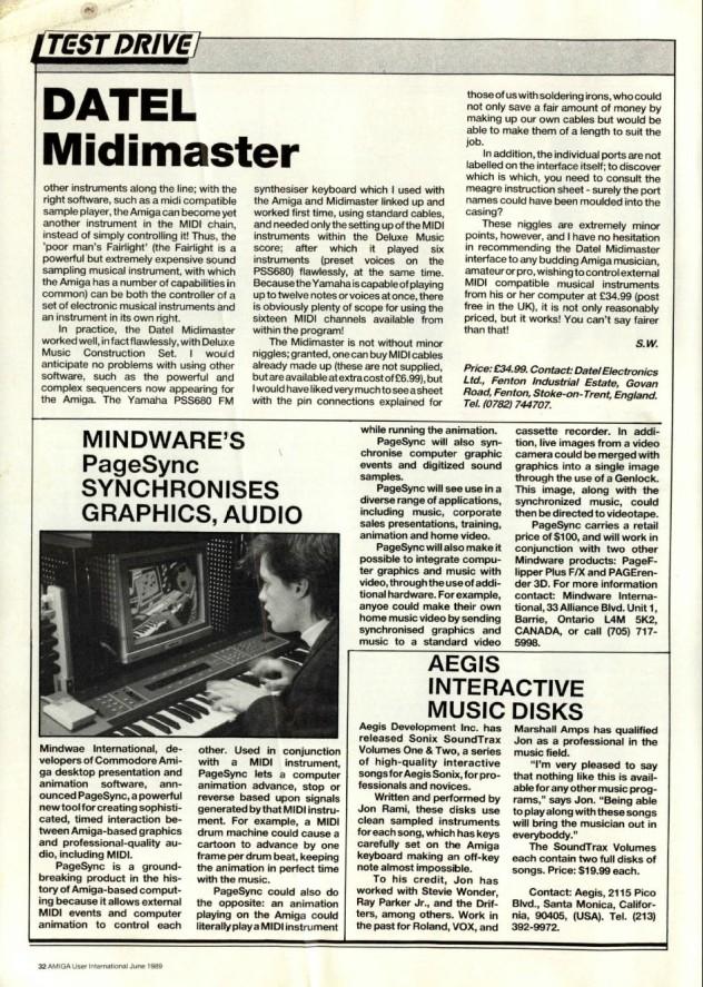 Amiga User International Volume 3, Number 6, June 1989 p32