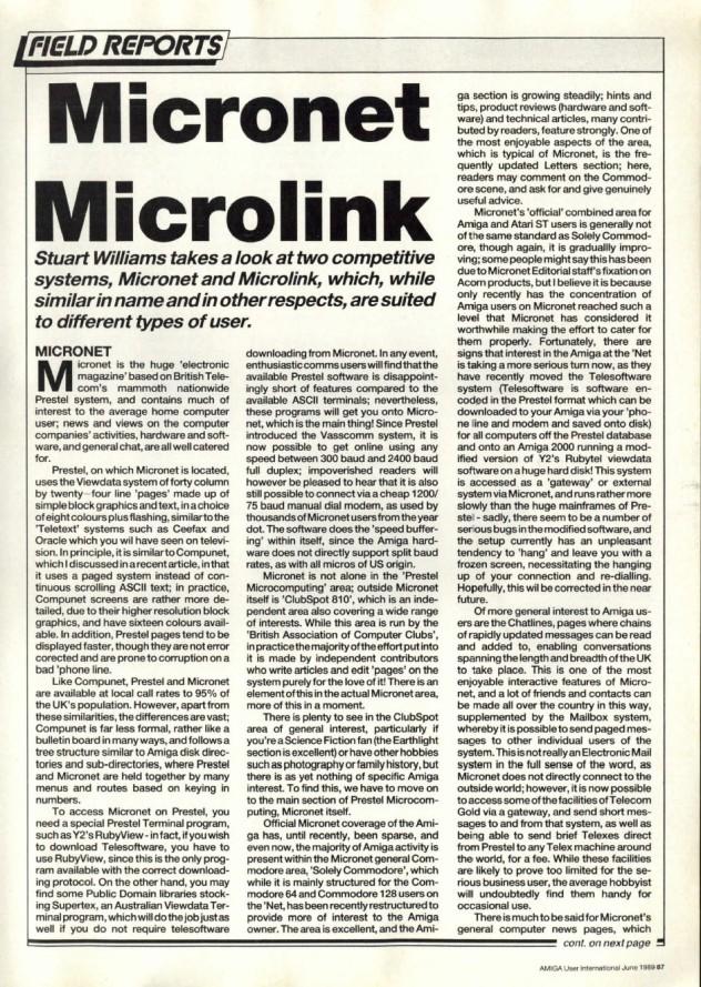 Amiga User International Volume 3, Number 6, June 1989 p87