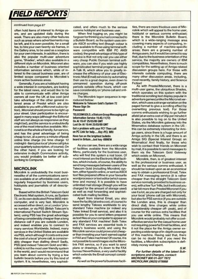Amiga User International Volume 3, Number 6, June 1989 p88