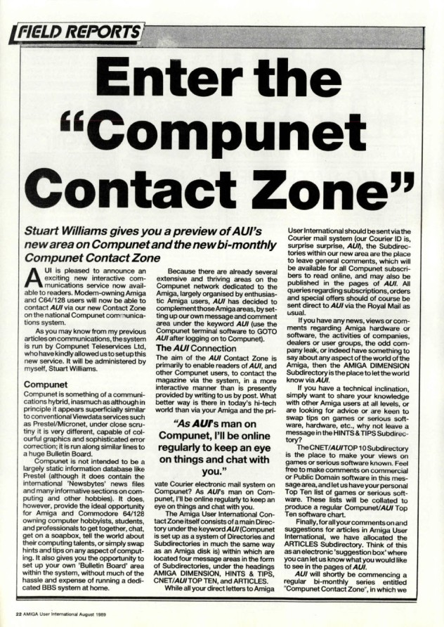 Amiga User International Volume 3, Number 8, August 1989 p22