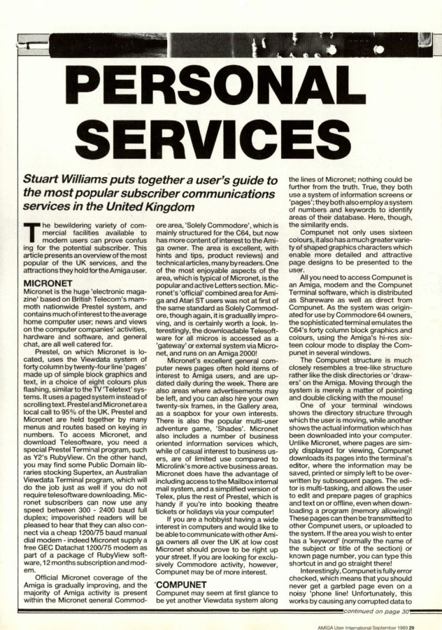 Amiga User International Volume 3, Number 9, September 1989 p29