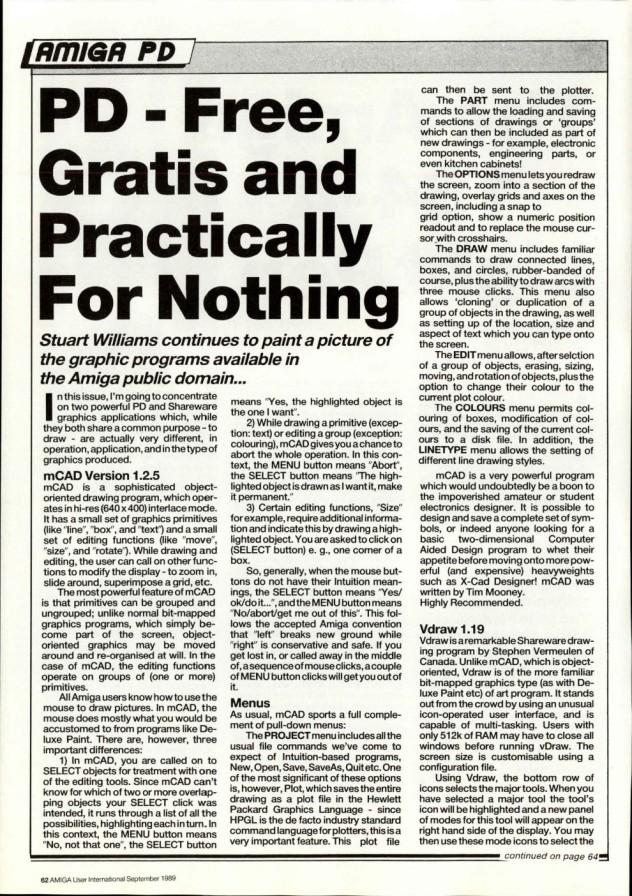 Amiga User International Volume 3, Number 9, September 1989 p62