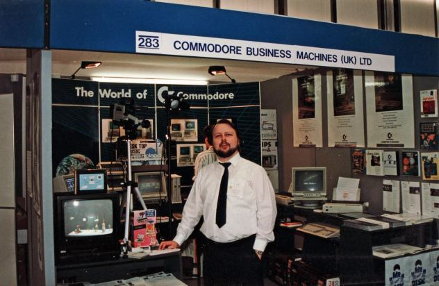 Me on the CBM stand at the Personal Computer World Show in the late 80s