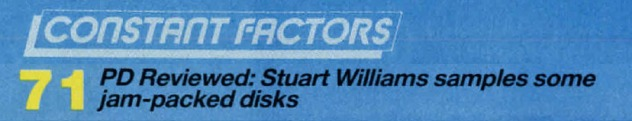 Constant Factors PD Reviewed