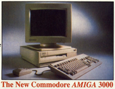 Amiga 3000 as advertised by Diamond Computer Systems in AUI August 1990