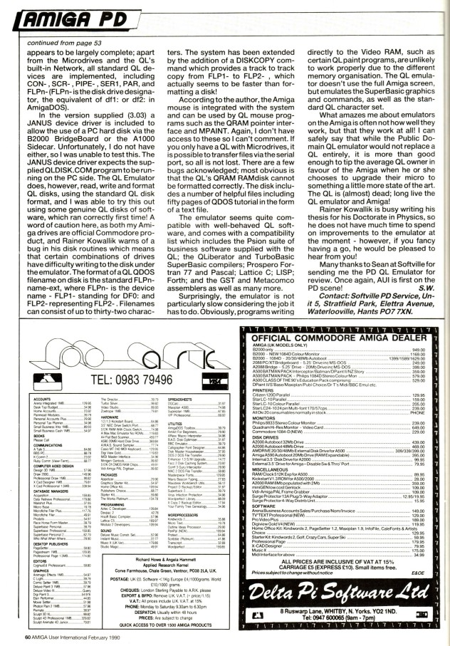 Amiga User International Feb 1990 Volume 4, Number 2, p60