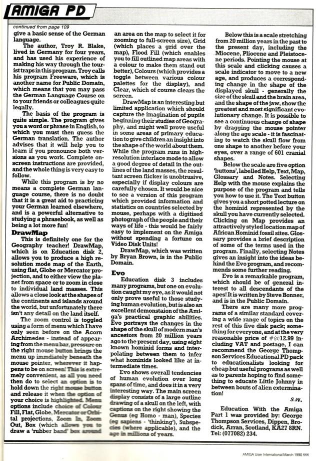 Amiga User International March 1990 Volume 4, Number 3, p111