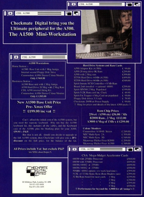 Checkmate Digital Limited full page ad in AUI August 1990 - click to enlarge