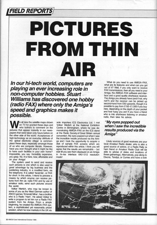 Amiga User International Volume 2, Number 10, October 1988 p22