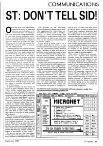 ST: Don't Tell Sid! ST Update magazine, September 1987