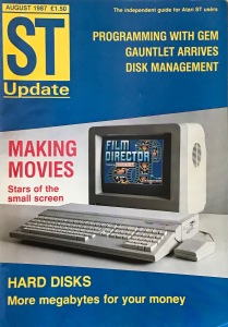 ST Update August 1987 - cover only, click to enlarge