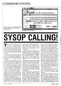 Sysop Calling! ST Update magazine October 1987